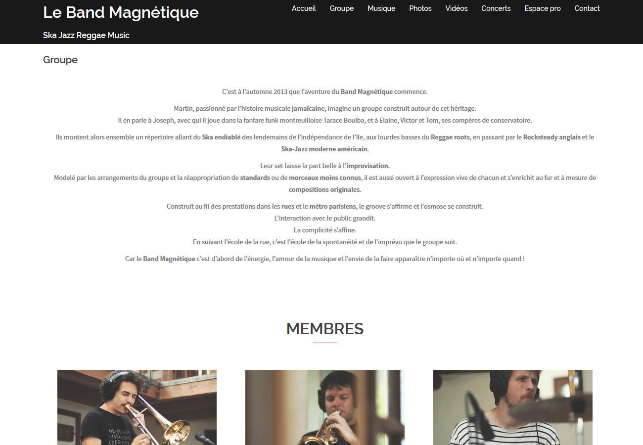 Le band magnétique 01
