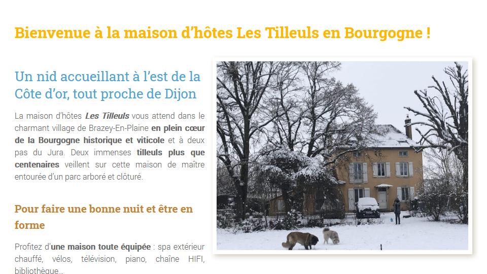 Gite - Site - Les tilleuls en Bourgogne - Brazey